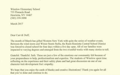 Winslow Elementary School Storm Response